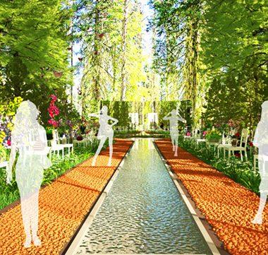 ý tưởng cảnh quan Catwalk Garden