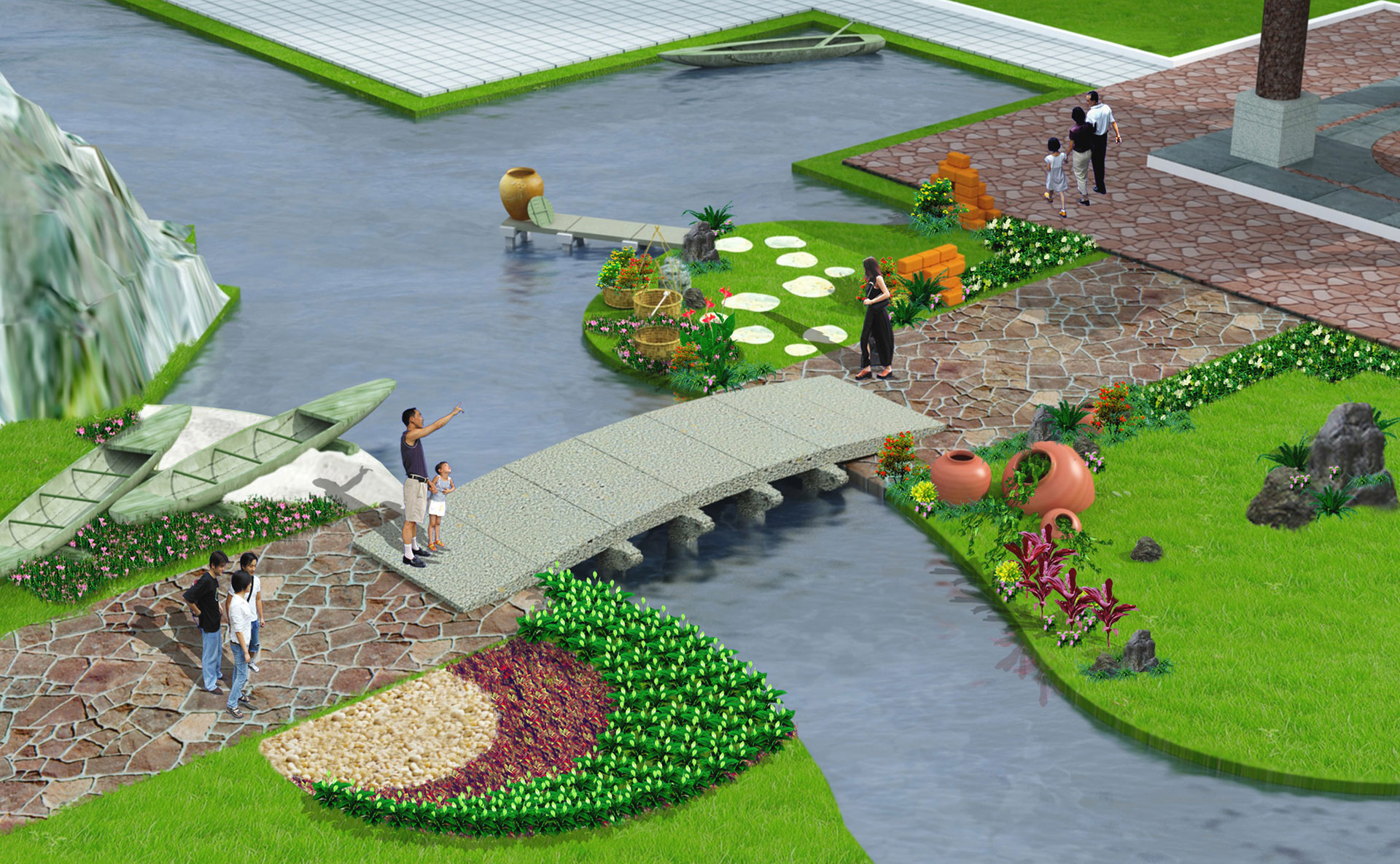 Lang Co green village resort in masterplan of Resort A