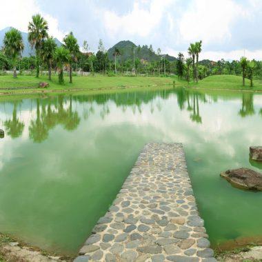Xanh Villas gồm 3 khu nằm trong thung lũng với cảnh quan tuyệt đẹp