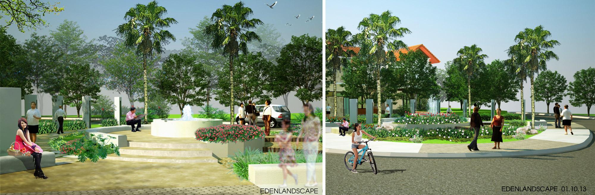 Công ty cảnh quan- tư vấn và thiết kế cảnh quan ở khu A2 Xanh Villas