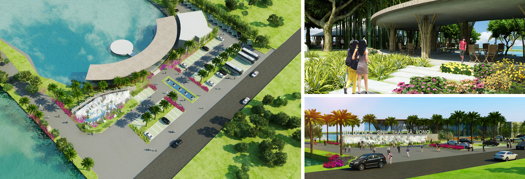 The project is designed into 4000 m2 artificial sea, amusement park