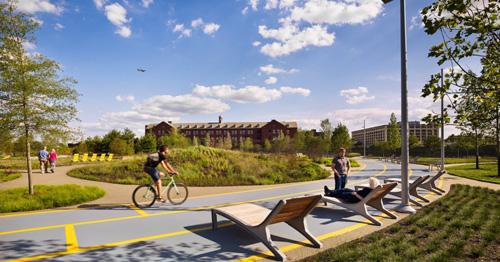 Navy Yard là không gian công cộng có kiến trúc đặc biệt trở thành địa điểm vui chơi