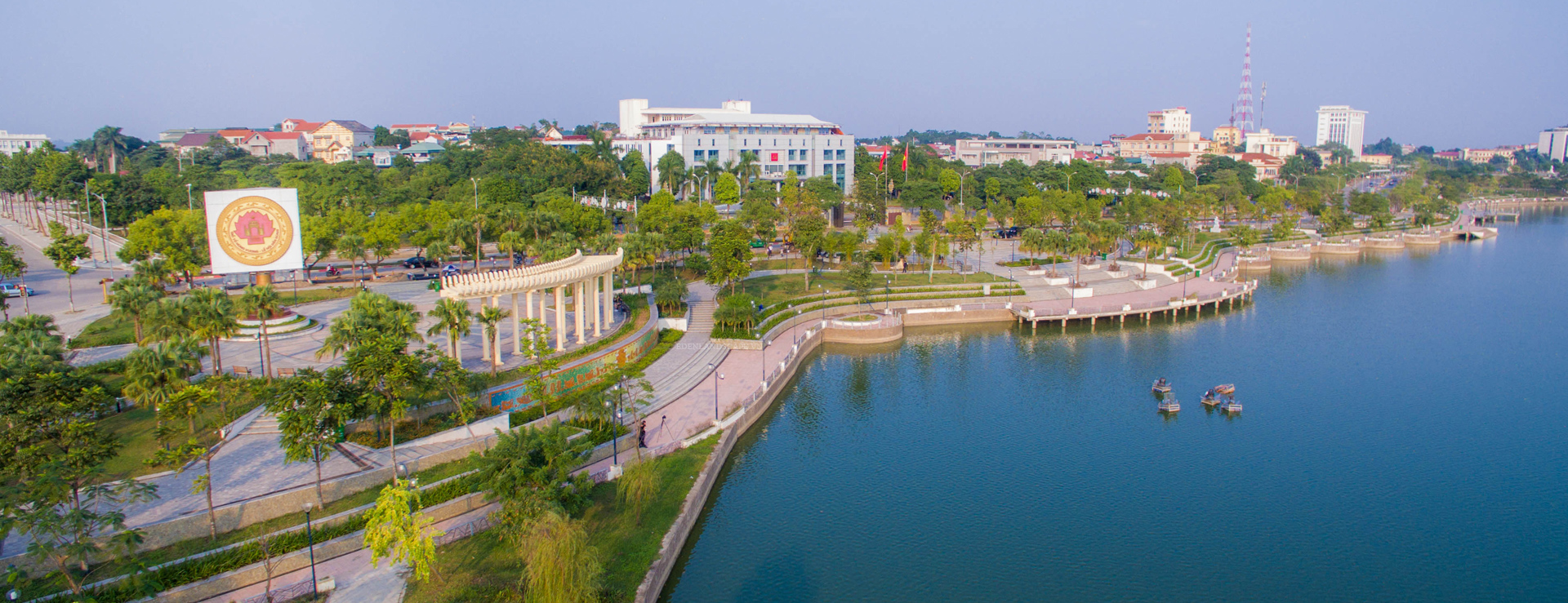 Van Lang Park is located in the center of Viet Tri City