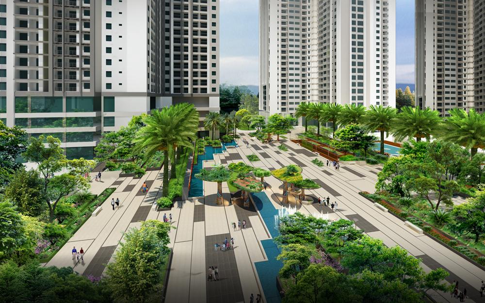 Một dự án thiết kế xanh với nhiều không gian cho cảnh quan