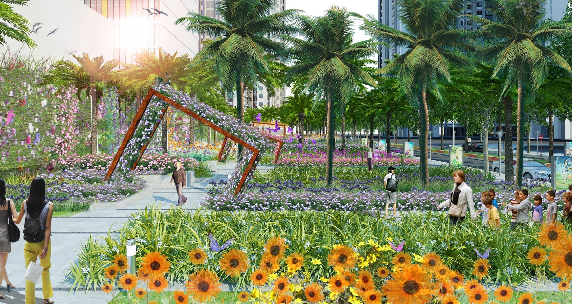 Eden Landscape thiết kế cảnh quan Goldmark City 3