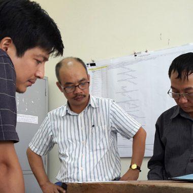 Chốt vật liệu thi công nhà mẫu dự án Nam An Khánh