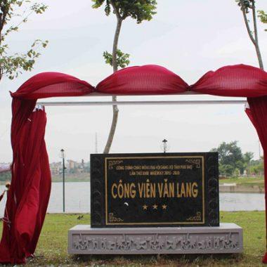 Phú Thọ đưa công viên Văn Lang vào sử dụng