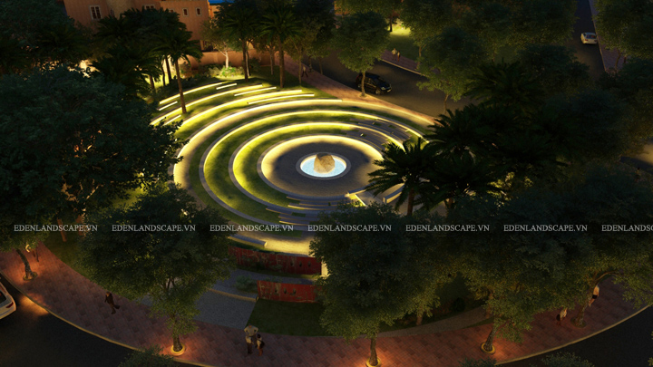 Bản vẽ trong thiết kế cảnh quan của Eden