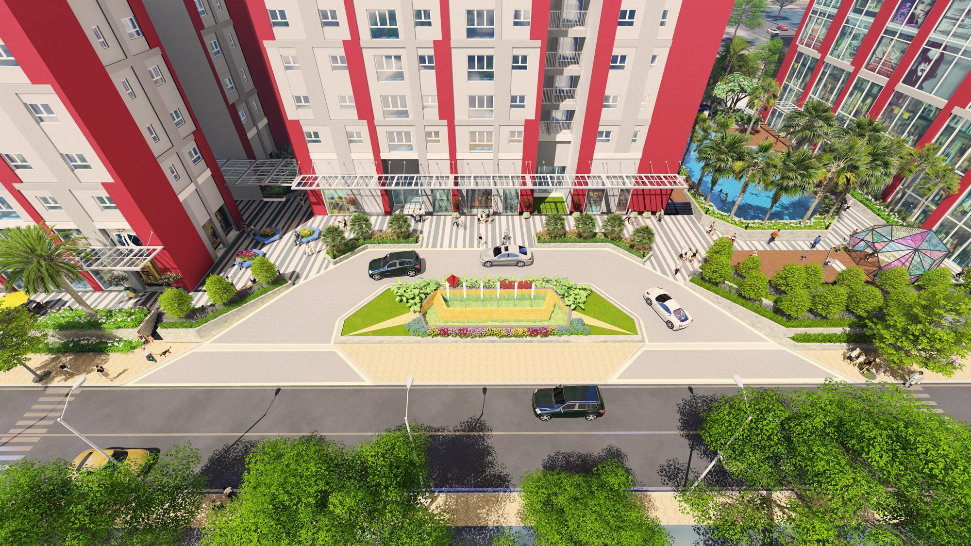 cảnh quan chung của dự án Hà Nội Paragon
