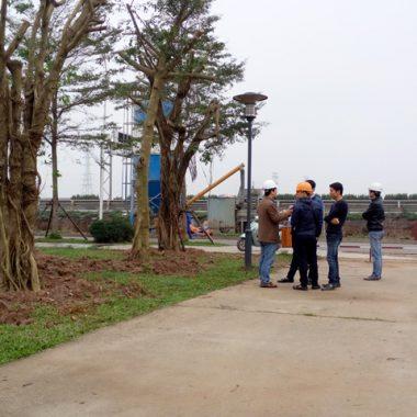 đội ngũ kts cảnh quan và kỹ sư cẫy xanh đi khảo sát hiện trạng