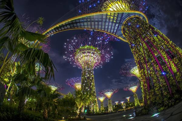 cảnh tuyệt vời trên cao nhìn từ khách sạn Marina Singapore