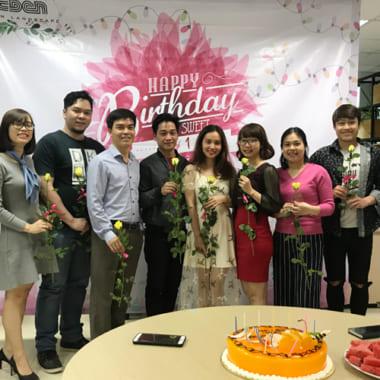 Tổ chức sinh nhật quý I/2018 cho CBNV