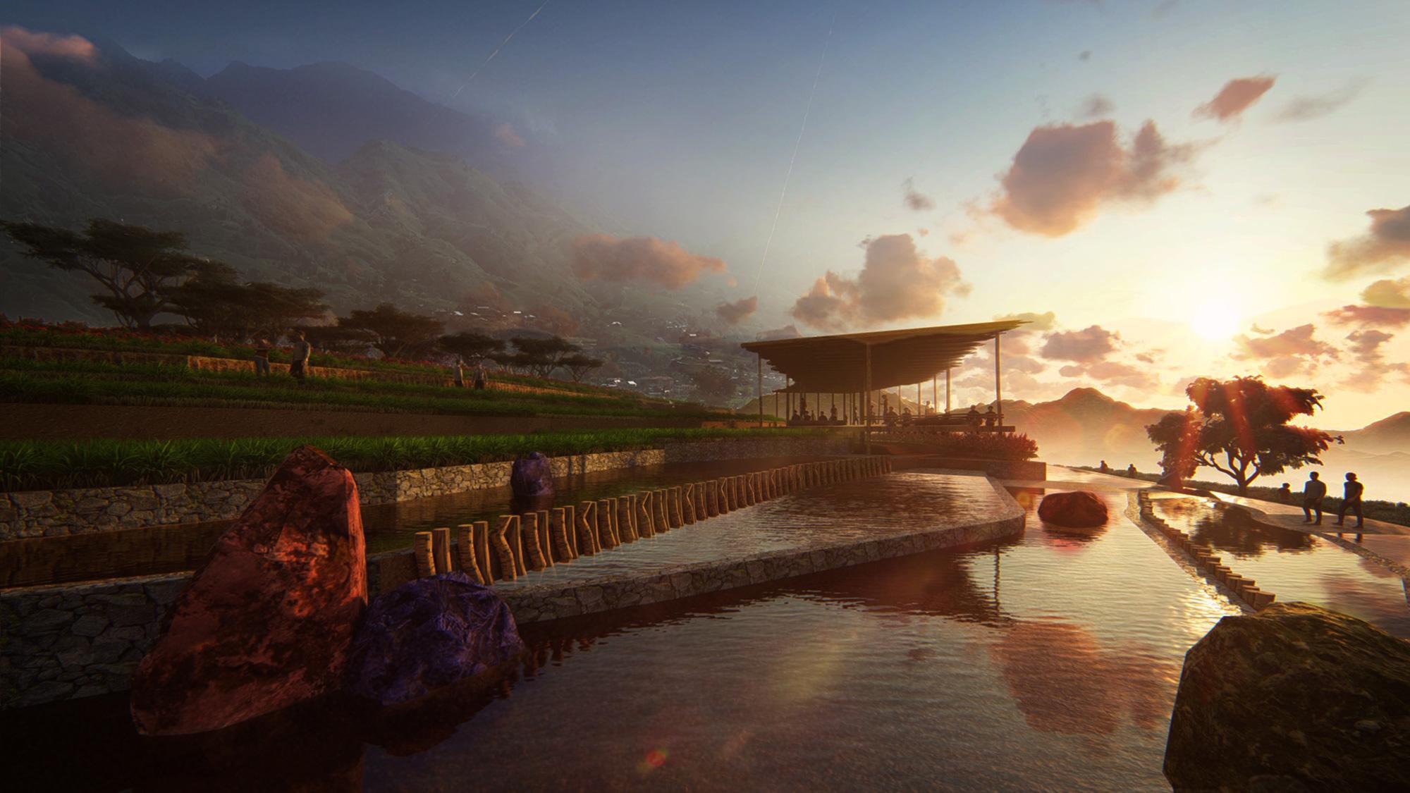 Thiết kế tổng thể dự án khu du lịch nghỉ dưỡng Sapa Mường Hoa
