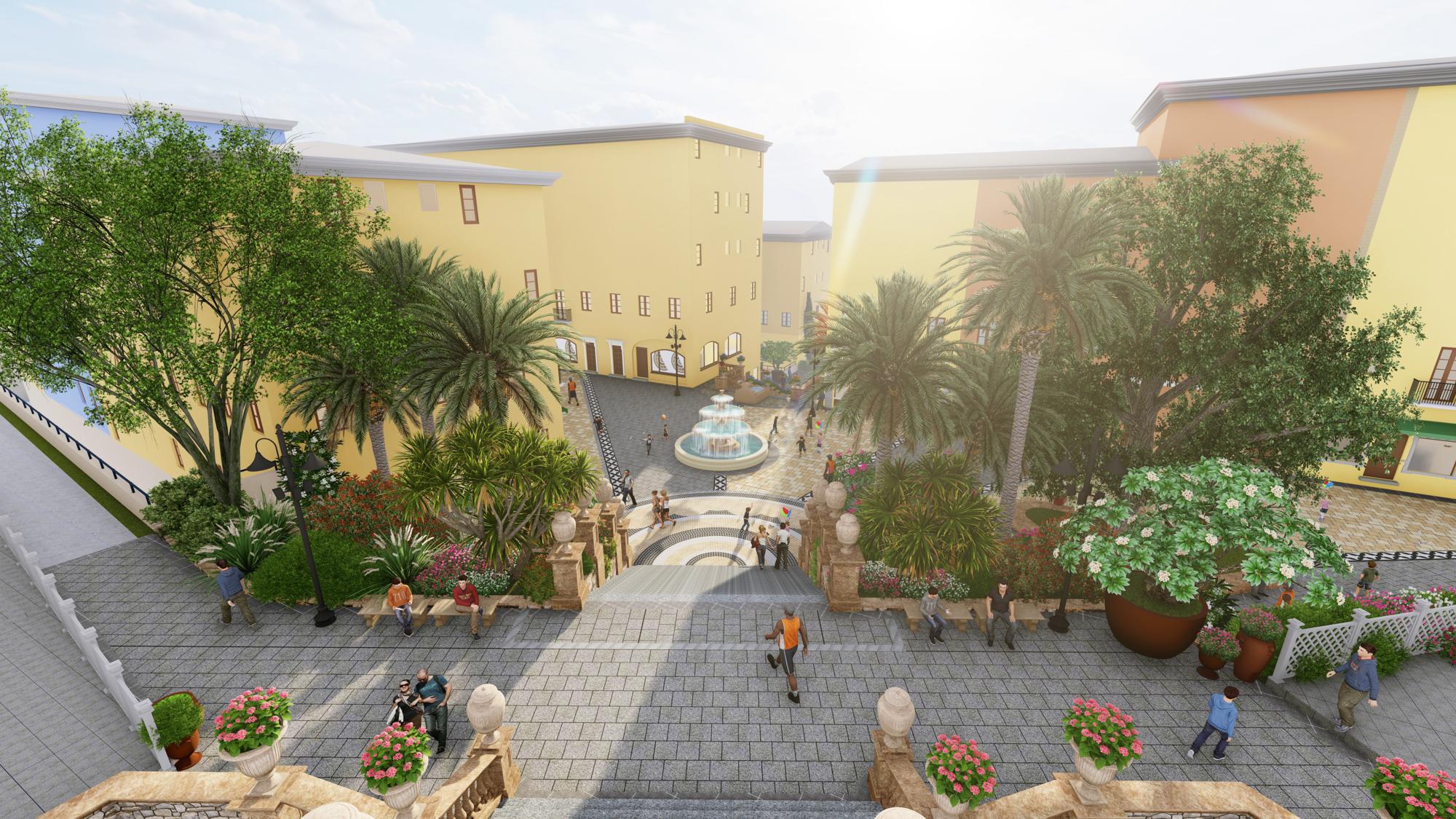The special feature when designing the Sun Premier Village Primavera landscape was the terrain factor.