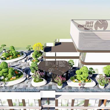Đưa phong cách thơ Haiku vào trong thiết kế, Eden Landscape đã mang đến một khu vườn tuy đơn giản như đa chiều cảm xúc cho những ai đặt chân lên tầng 43 của dự án The Matrix One.