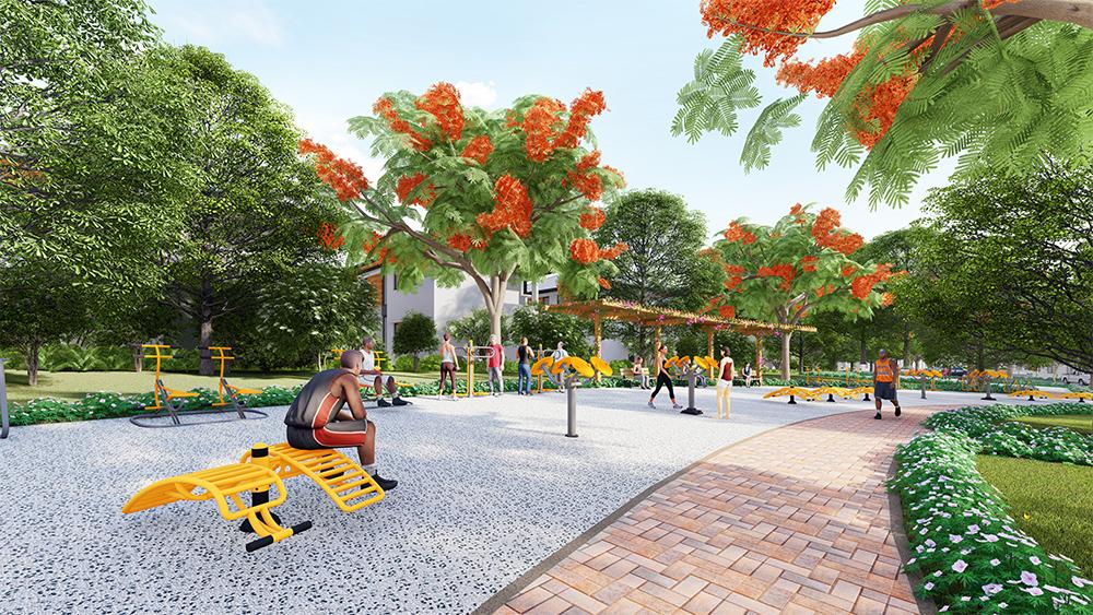 Thiết kế khu thể thao lớn trong công viên - Xu hướng thiết kế cảnh quan công viên 2021